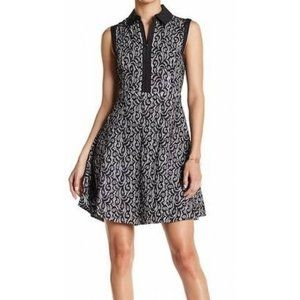 Betsey Johnson Lace Collar Fit and Flare Dress